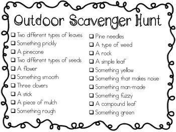 Outdoor Scavenger Hunt List & Rules FREEBIE! in 2020