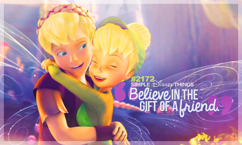 2171. Believe in the gift of a friend.