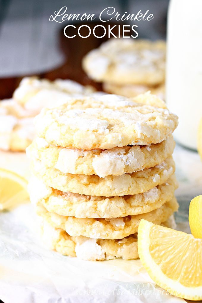 Award Winning Lemon Crinkle Cookies Recipe -- These soft and chewy cookies are bursting with lemon flavor. It's no wonder they're award winning! #lemon #cookies #desserts #recipes