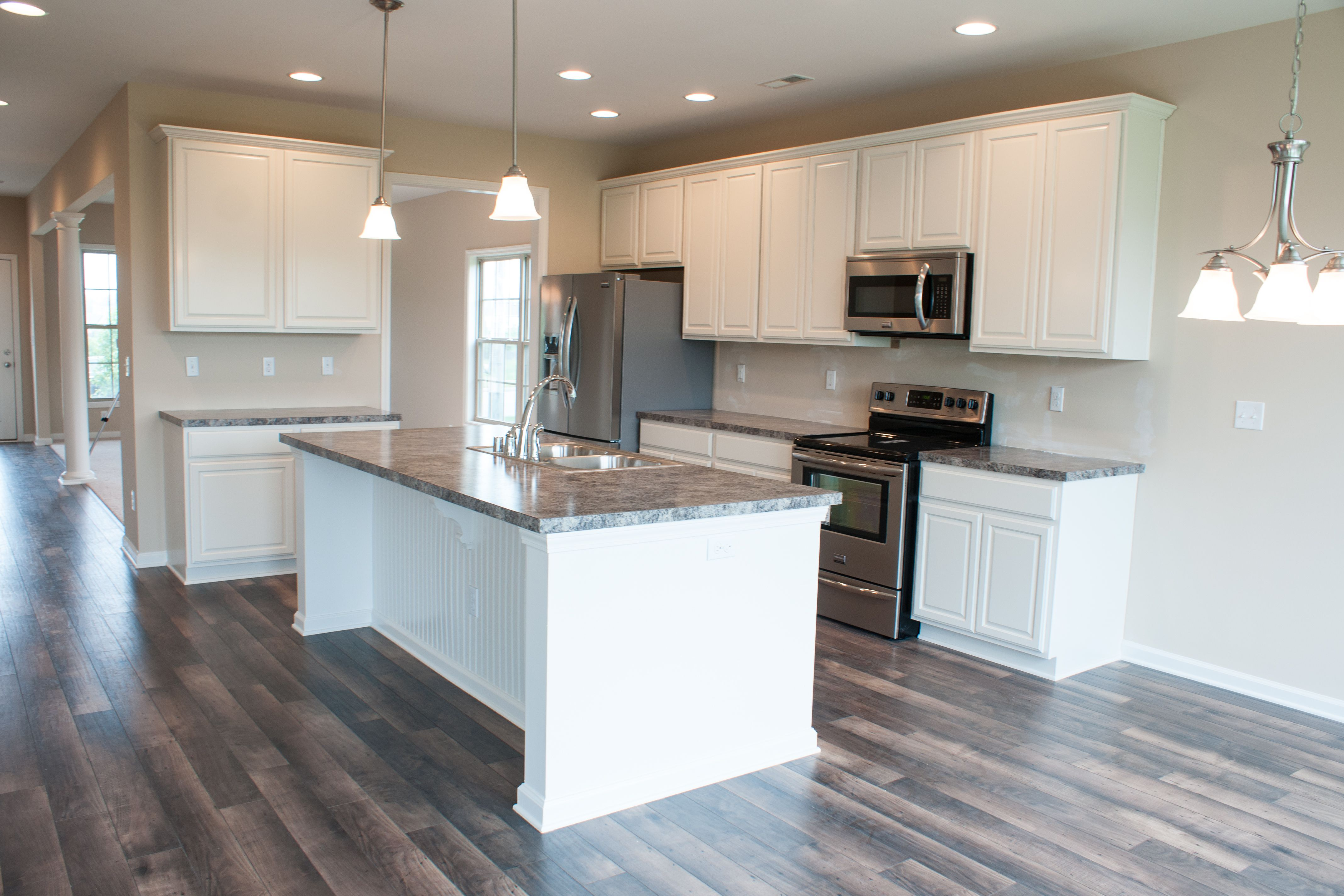 the kitchen of the preston floor plan by ball homes the preston