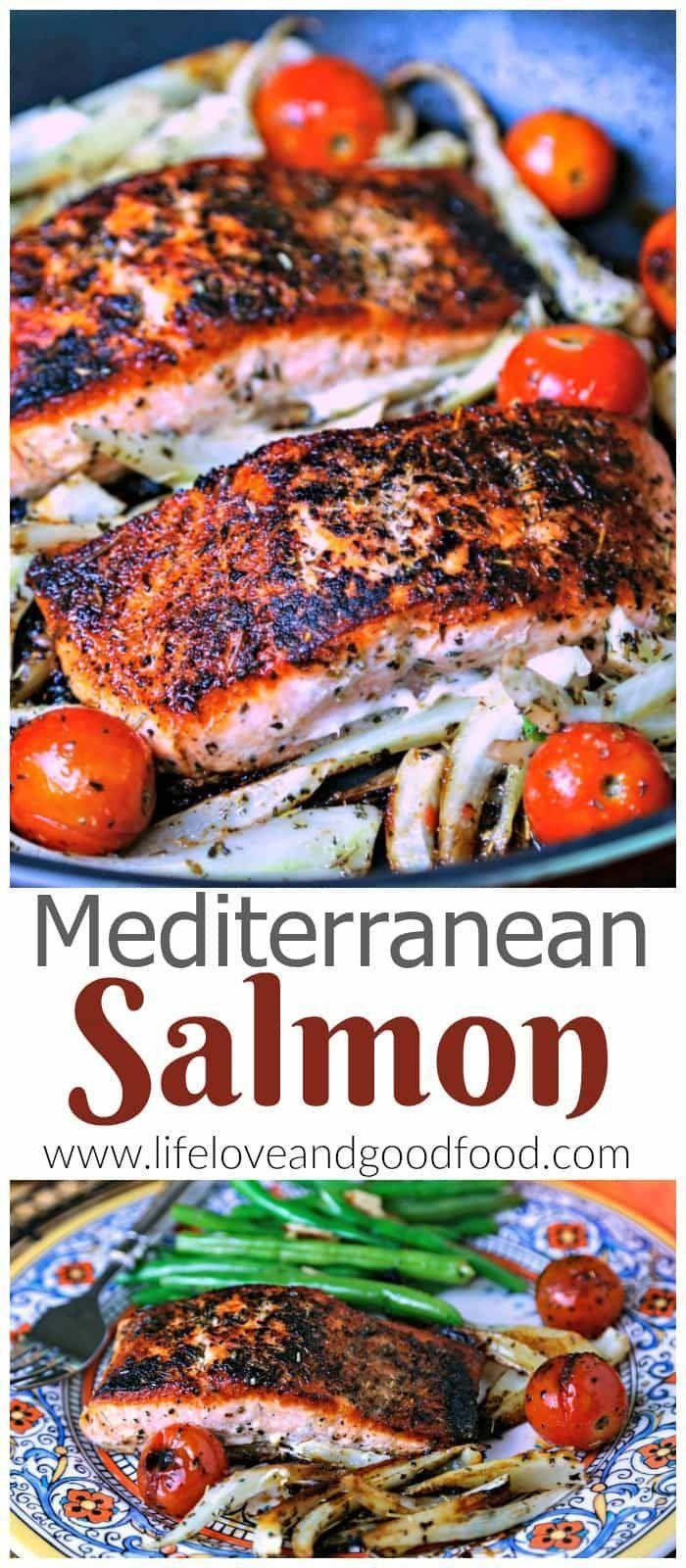 Mediterranean Salmon #mediterraneanrecipes