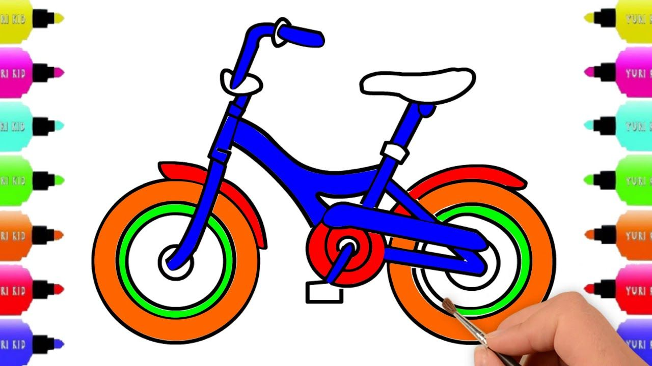 Bicycle For Kids Easy Drawing Steps Easy Drawing Tutorial Learn