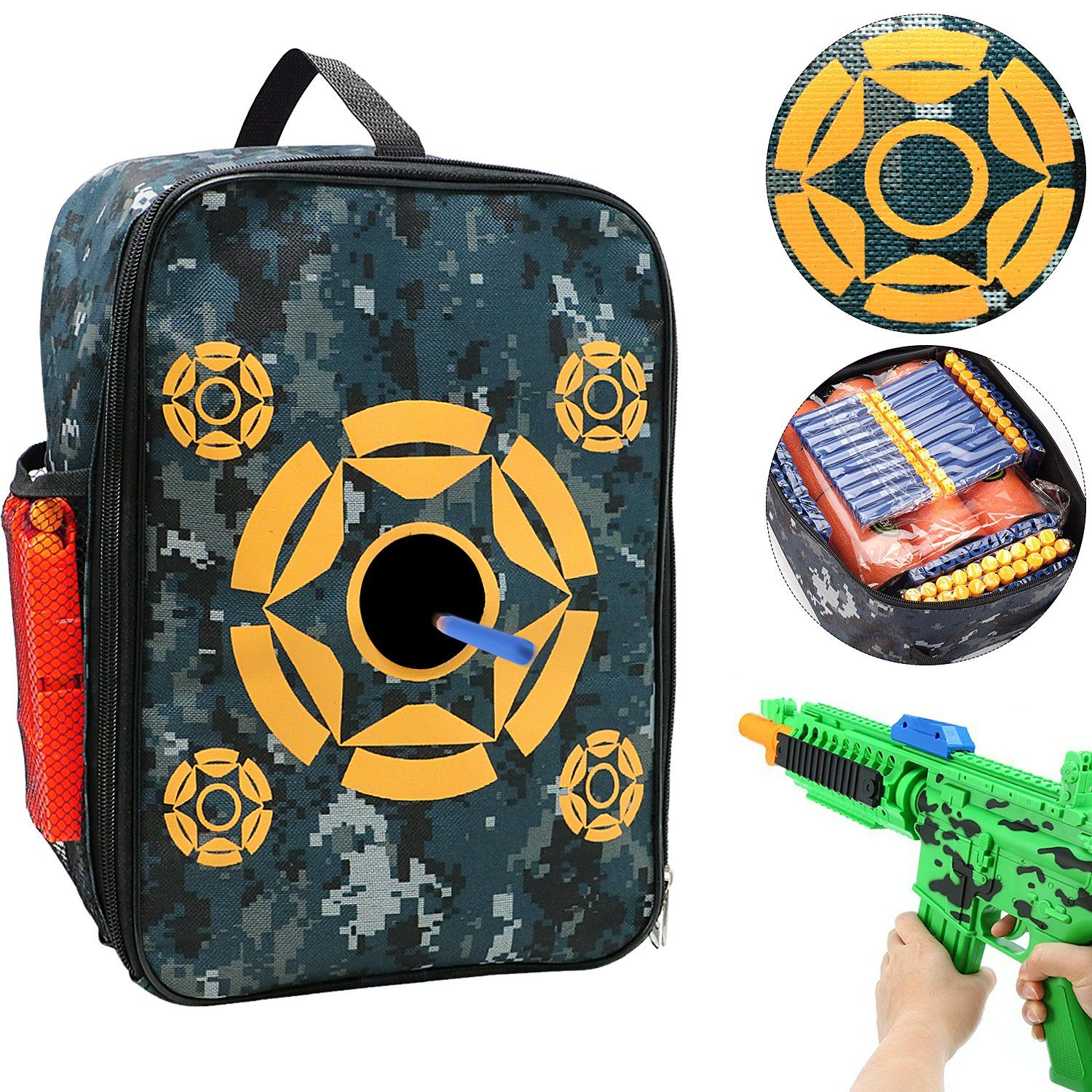 Target Pouch Storage Carry Equipment Bag for Nerf N-strike Elite   Mega    Rival Series d4fe32529