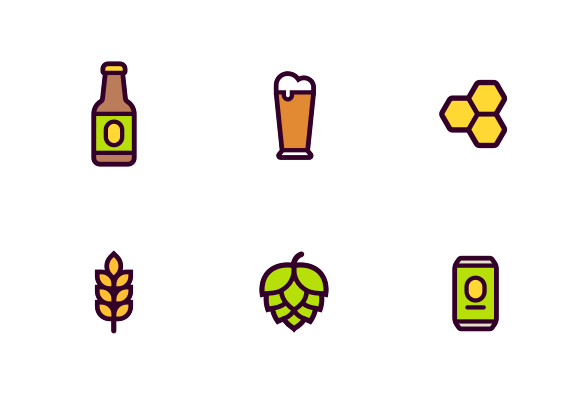 Cartoon Beer Brewing And Craft Beer Icons By Irina Mir In 2020 Craft Beer Beer Icon Beer Brewing