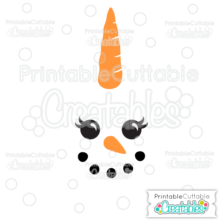 image regarding Printable Cuttable Creatables called Snownicorn Snowman Unicorn Facial area SVG Chopping Document Misc