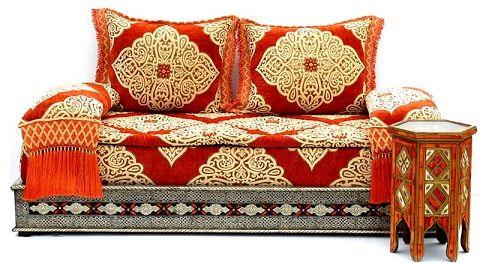 Red Mekissa Set Exotica Moroccan Decor Moroccan Furniture