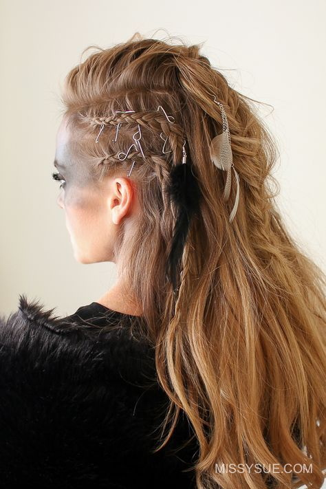 Viking Warrior Halloween Hairstyle Missy Sue Halloween Hair Warrior Braid Viking Hair
