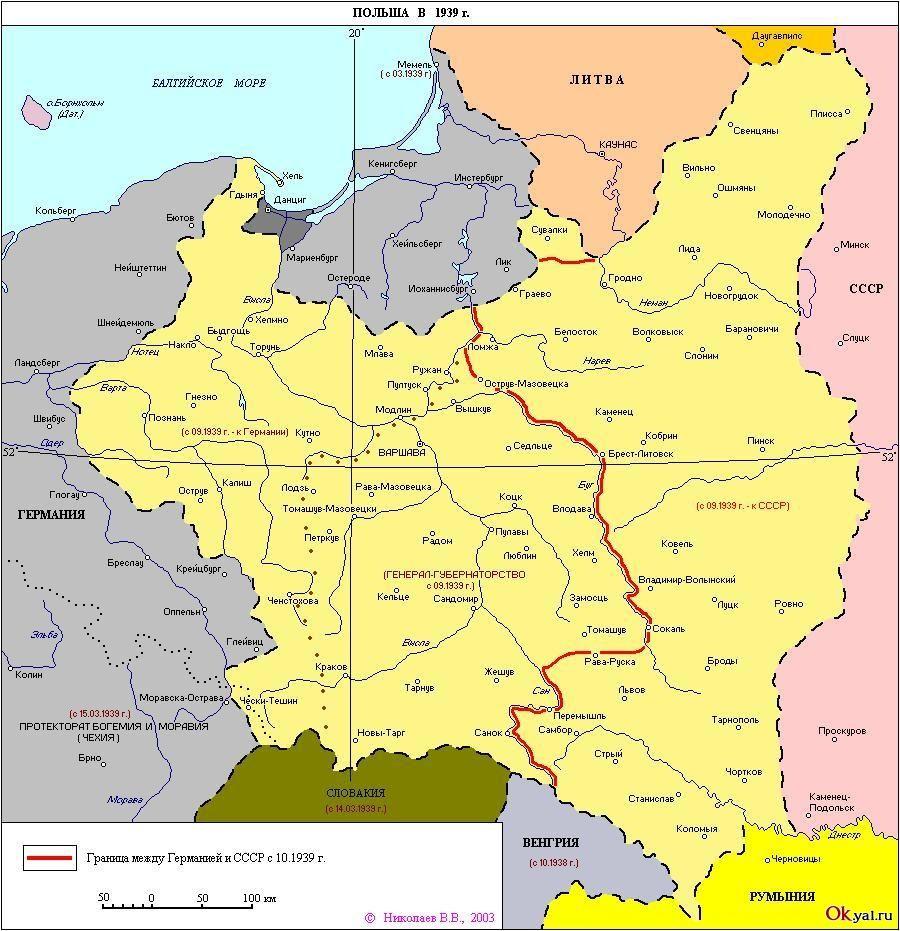 Karta Polshi V 1939 Polsha Karta Ukraina