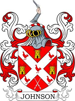 Johnson Coat of Arms   Coats of Arms in 2019   Family crest, Coat of
