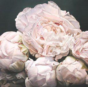 Thomas Darnell 5. Peonies I, 120x120 cm