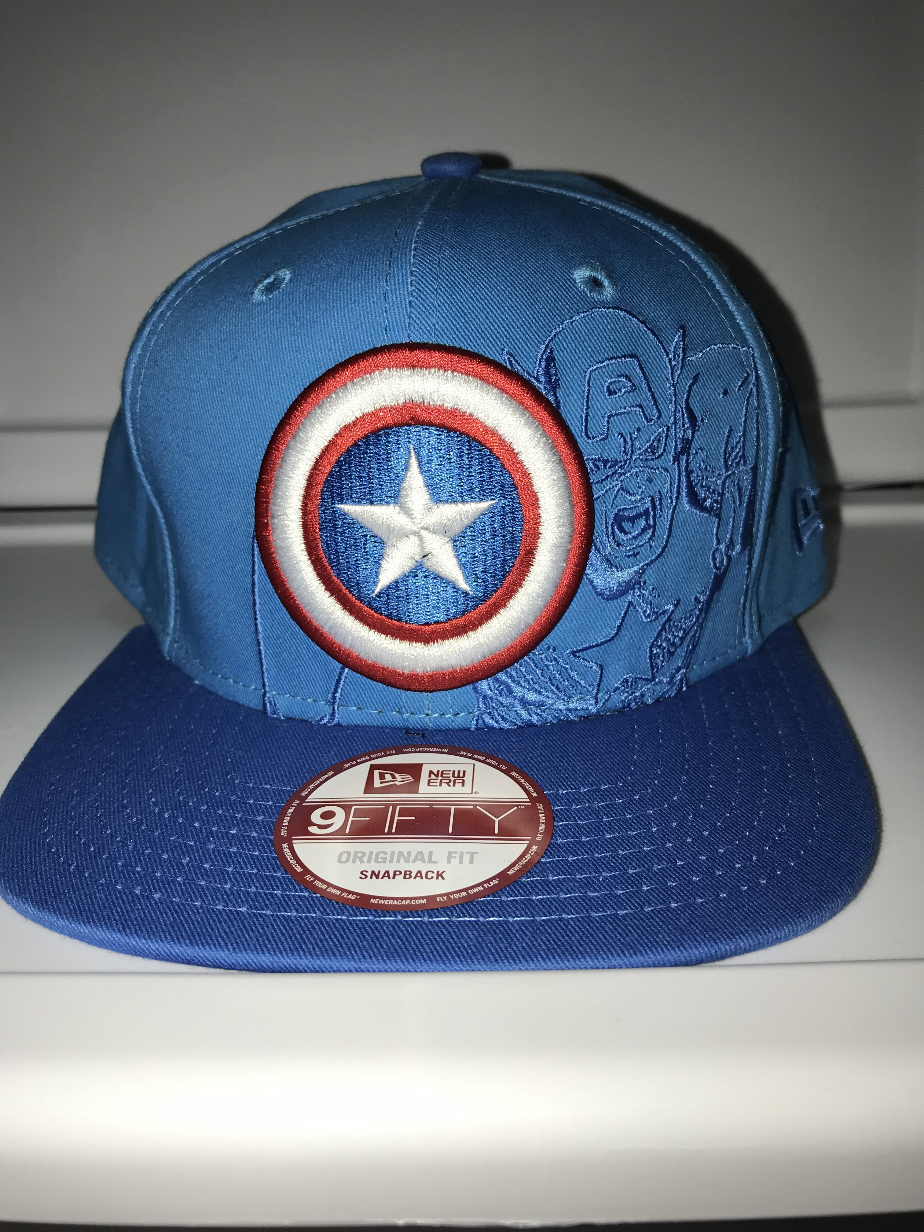 50829d6ae1a1e New Era Marvel Captain America panel pop snapback 9FIFTY