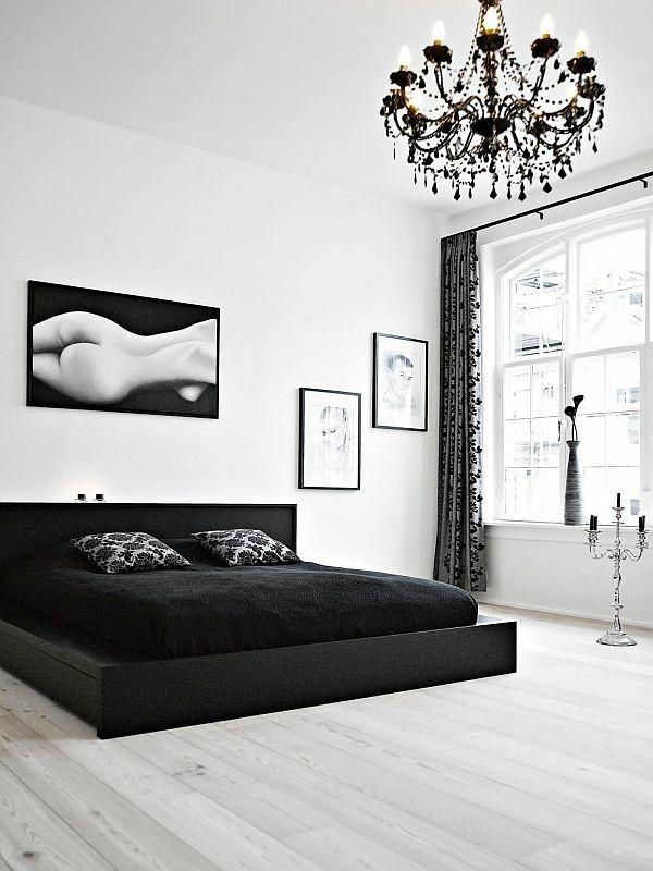 Une chambre blanche pour un sommeil purificateur Black white decor
