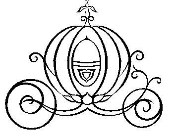 Cinderella Carriage Black And White Clipart