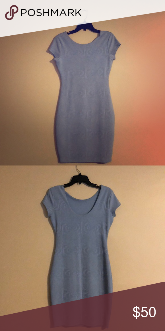 Stella Dress Get your groove back in this Icicle Blue Gianni Bini