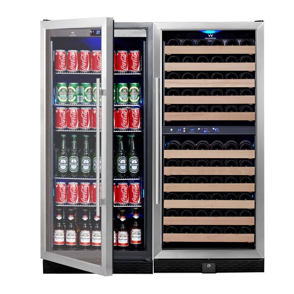 98 Bottle 300 Can Beverage Cooler COMBO Beer, wine