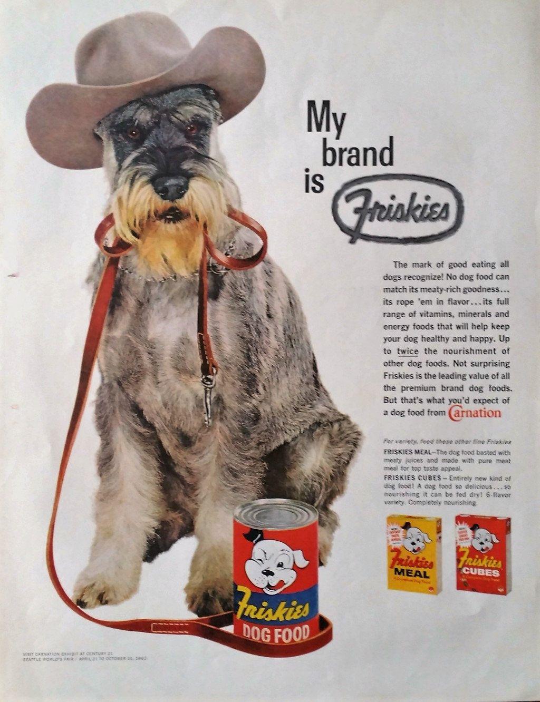 1961 Friskies Dog Food Magazine Advertisement Friskies Dog Food