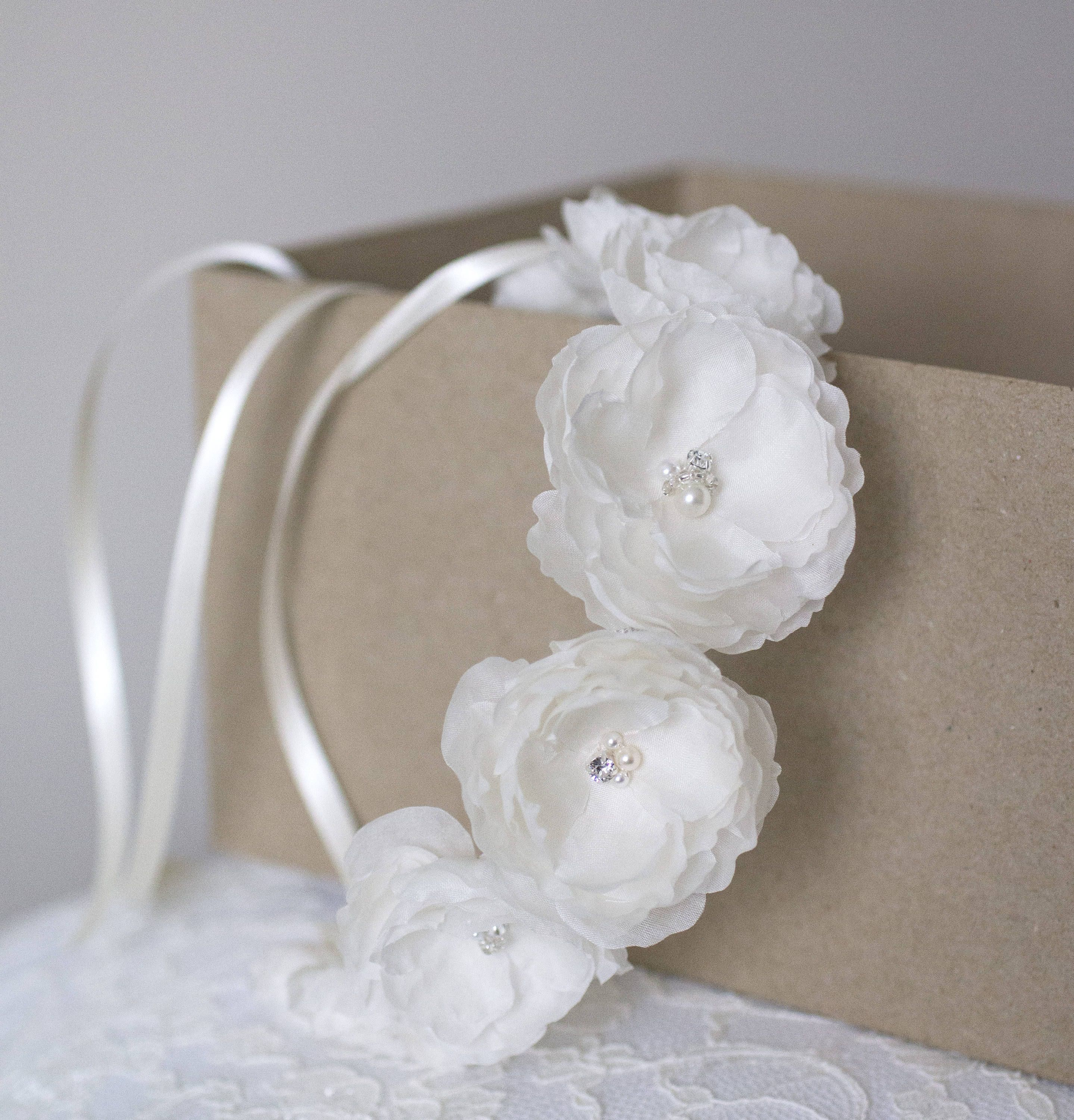Movember Donation Wedding Flower Crown Handmade With 100 Silk
