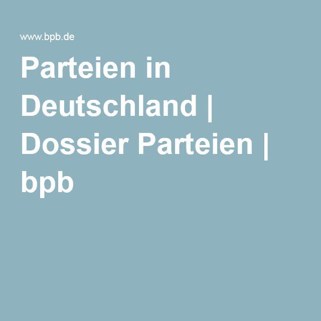 Parteien in Deutschland | Dossier Parteien | bpb | Gesellschaft ...