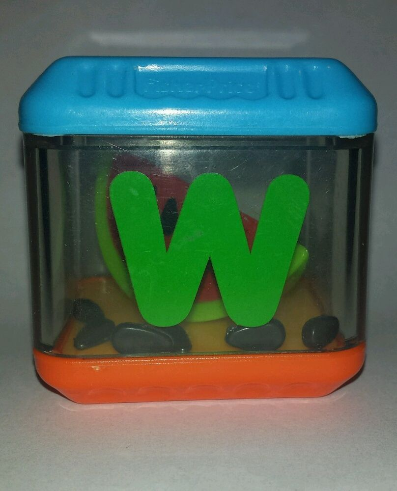 Fisher Price Peek A Blocks Letter W Watermelon Alphabet