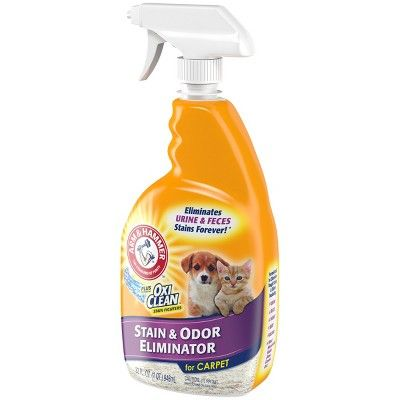 Arm Hammer Plus Oxi Clean Cat Stain Odor Eliminator For Carpet 32oz Pet Stains Odor Remover Odor Eliminator