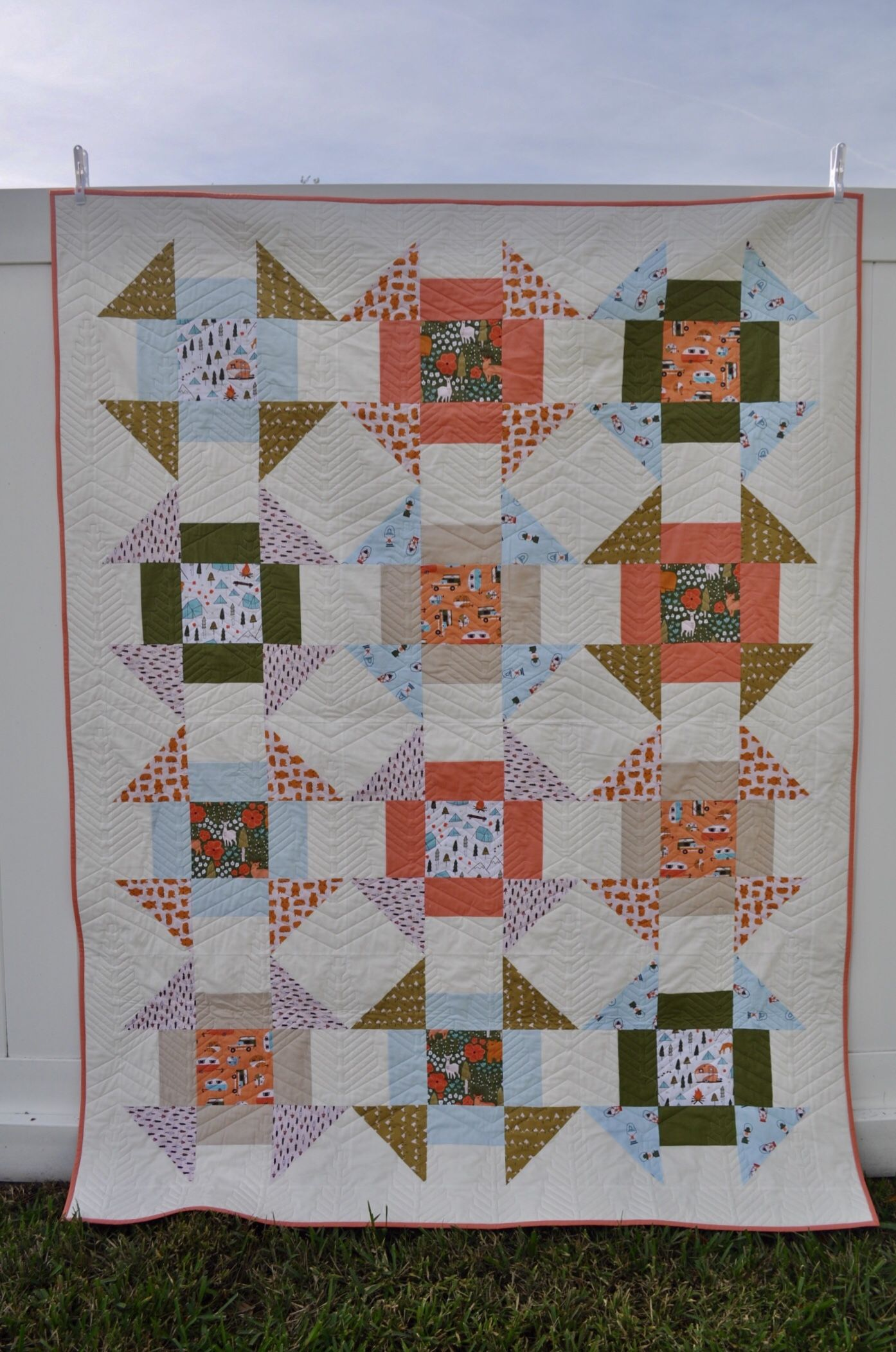 FREE Quilt Pattern Vintage Camping – Homemade Emily Jane   Quilt ...