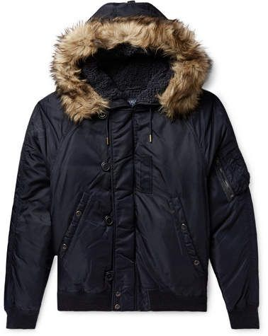 cacd949b Polo Ralph Lauren Faux Fur-Trimmed Nylon-Shell Down Bomber Jacket ...