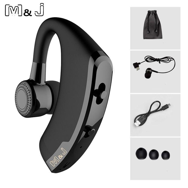 M J V9 Handsfree Business Bluetooth Headphone With Mic Price 23 26 Free Shipping Bluetooth Tech Bluetooth Headset Bluetooth Earphones Headphone With Mic