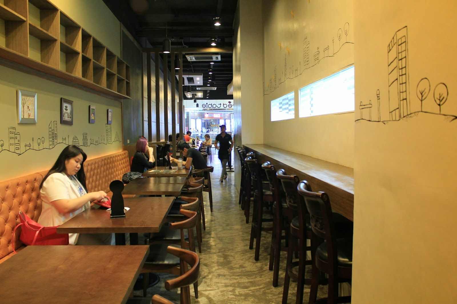 Brands leading restaurant segment in design innovation fast casual - Red Table Korean Fast Casual Restaurant Interior