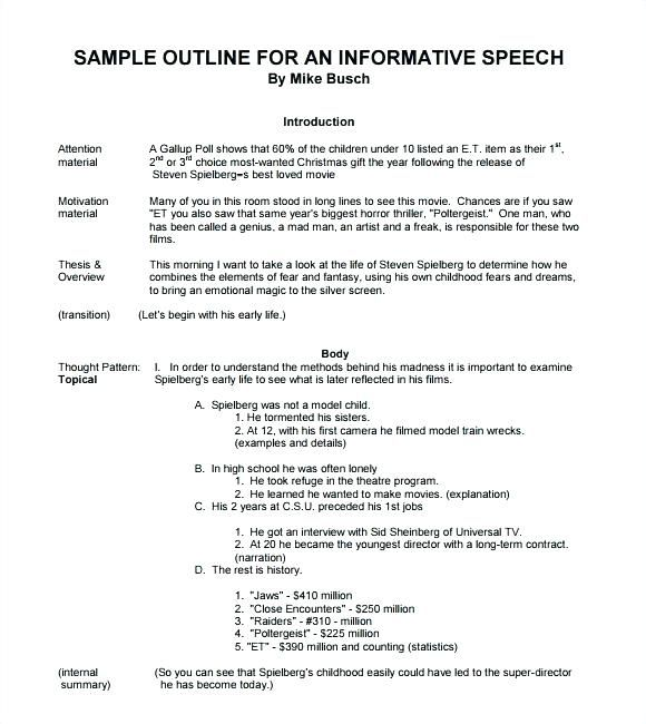 Image result for speech outline EXAMPLES Toastmasters