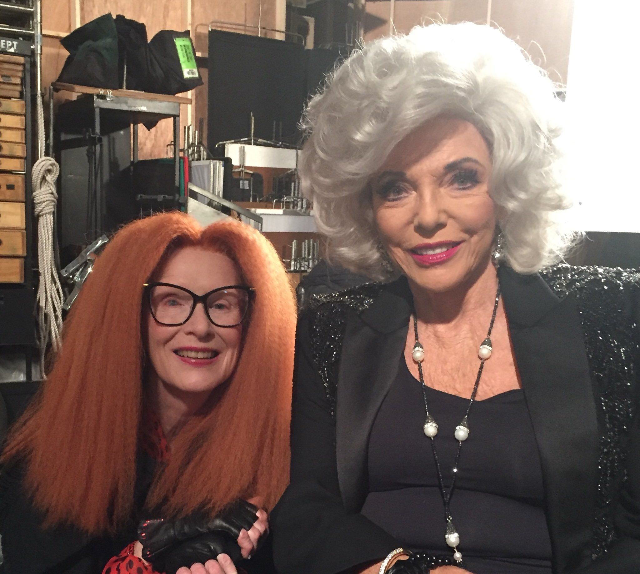 Frances Conroy And Joan Collins American Horror Story Series American Horror Story American Horror