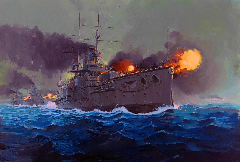 Mikasa vs Oslyabya, May 27, 1905 Russo-Japanese War