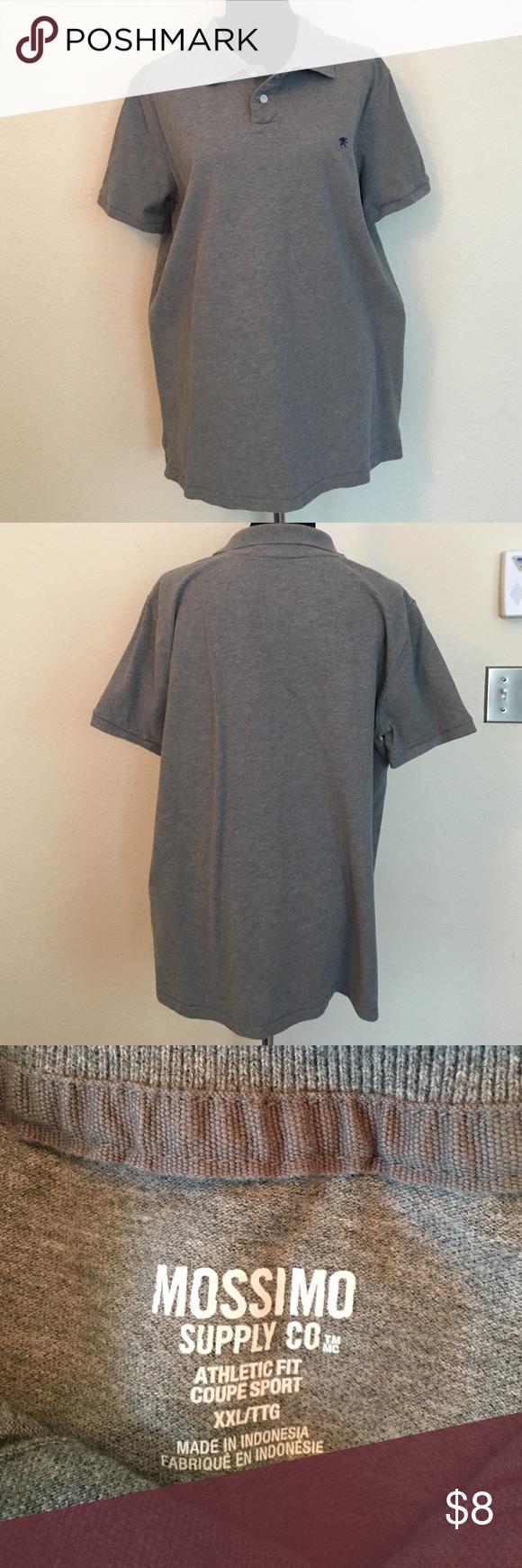 Men's- Mossimo Supply Co. polo, grey, XXL Men's- Mossimo Supply Co. polo, grey, XXL Mossimo Supply Co. Shirts Polos