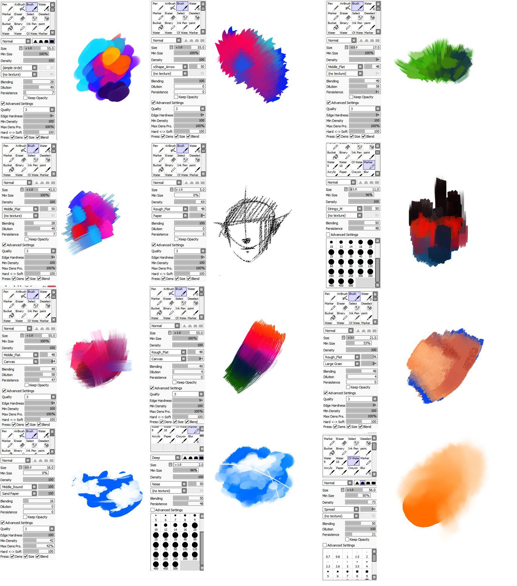 paint tool sai онлайн рисовать