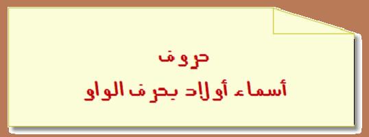 أسماء أولاد بحرف الواو حروف اللغة العربية Chart Line Chart