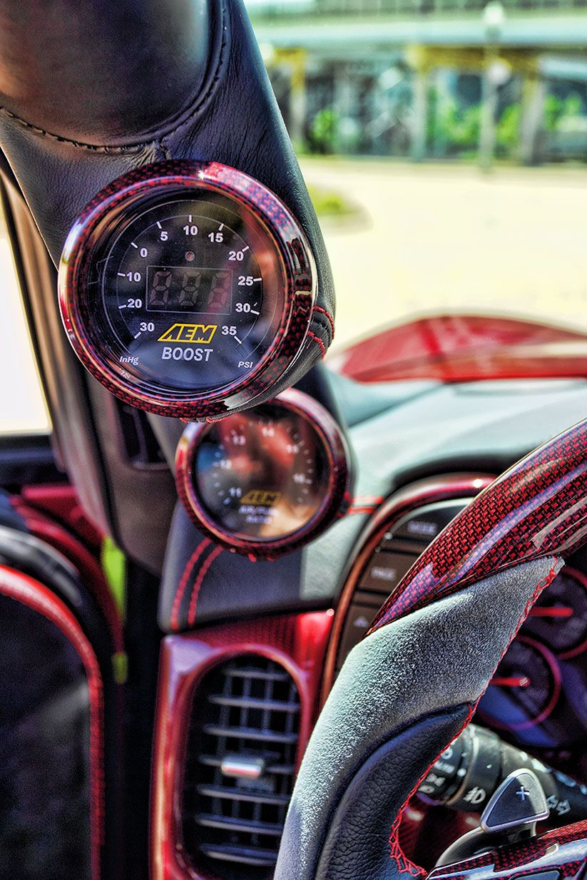 AEM Boost Gauge Corvette grand sport, Corvette, Lambo