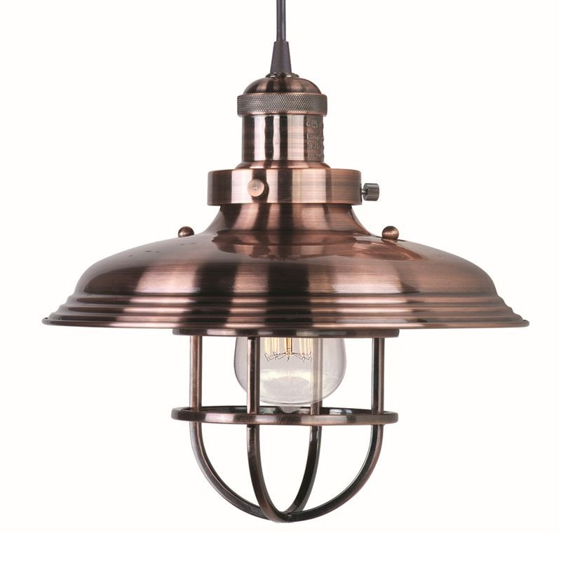 Maxim 25031 Bui 1 Light 11 Wide Pendant From The Mini Hi Bay Collection Bulb Antique Copper Indoor Lighting Pendants