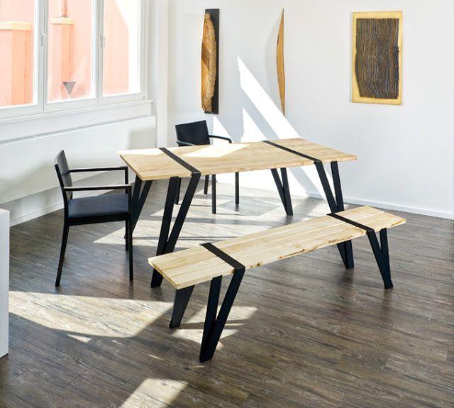 Ilia estudio interiorismo madera y hierro un dise o de for Diseno de muebles de madera