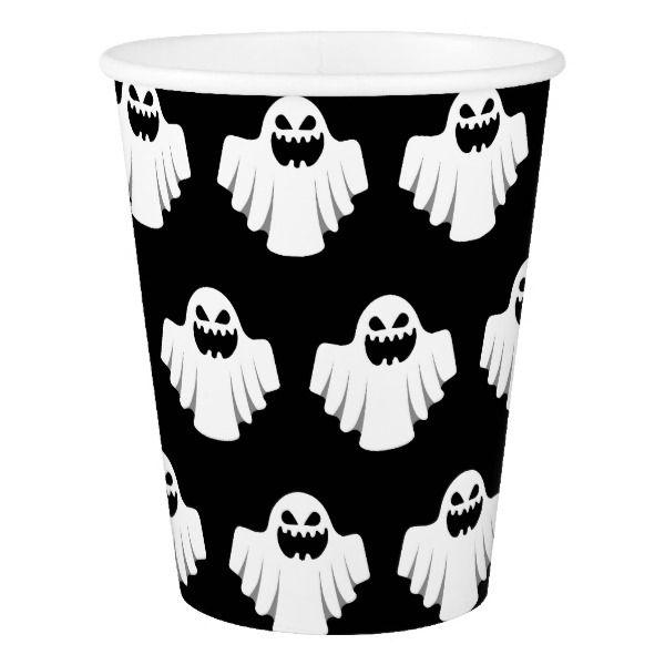 Halloween Ghost Cartoon Illustration 07 Paper Cup #halloween