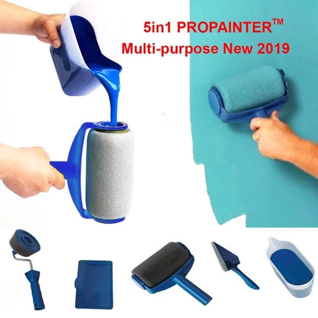 5in1 Smartpainter Multi Purpose Paint Rollers Pro Set New 2019 Kouzi House Paint Roller Painted Trays Kitchen Paint