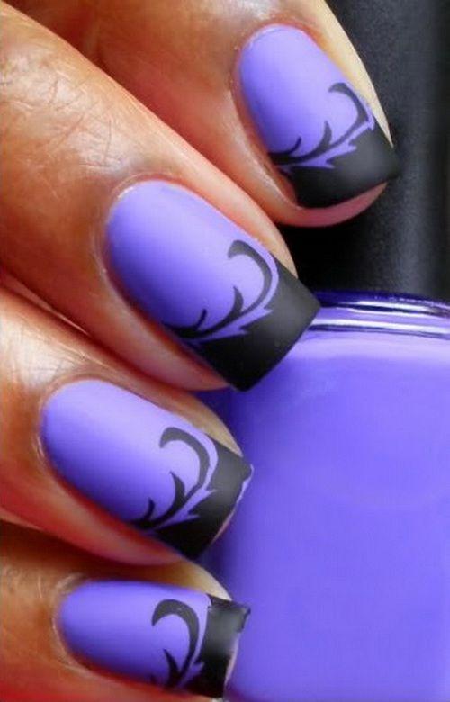 Purple And Black Nail Art Simple Purple Nail Source Purple Nail Art Designs Purple Nail Art Purple Nails