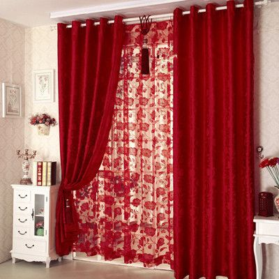 Popular Red Flower Curtain Buy Cheap Red Flower Curtain Lots From