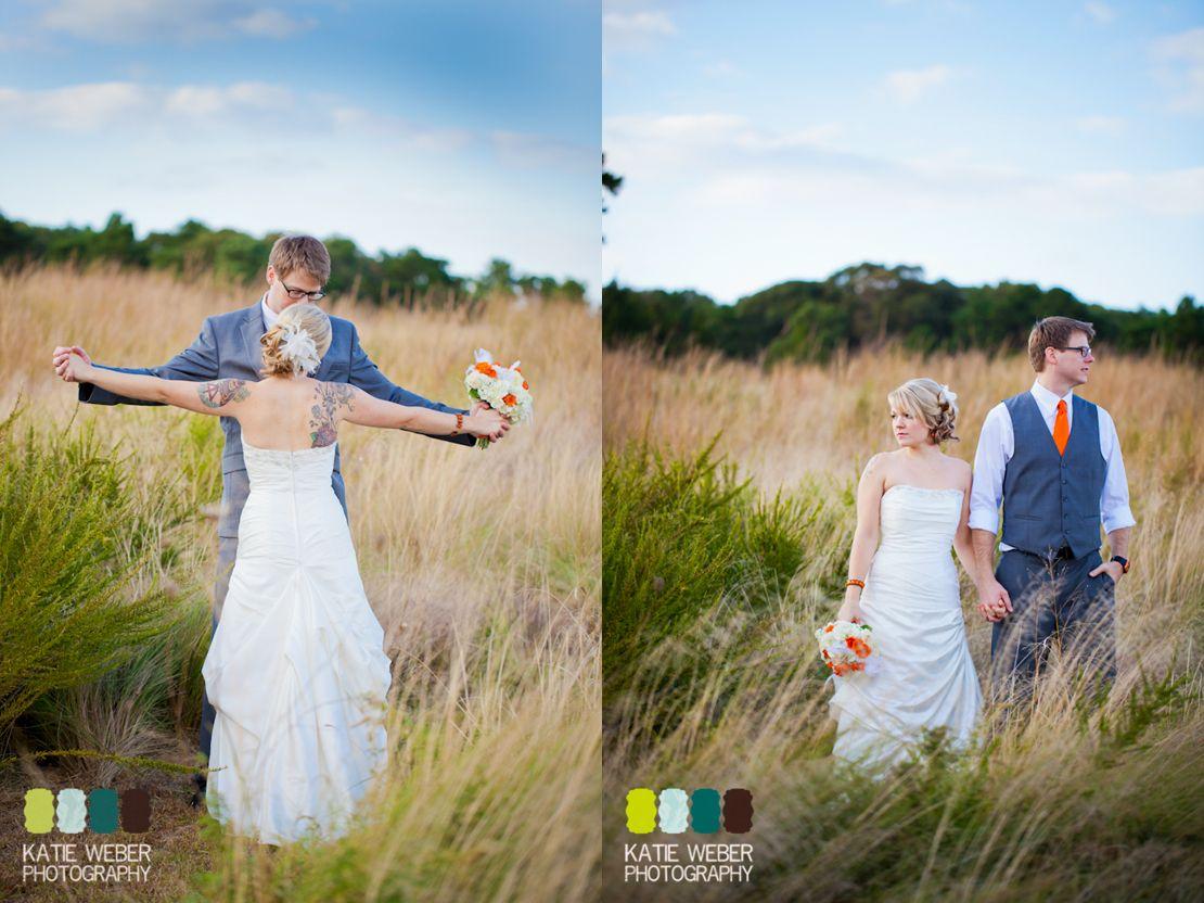 Long beach wedding photographer  gray orange yellow wedding  Katie Weber PhotographyPittsburgh