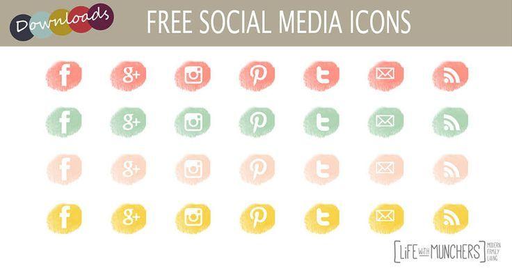 free social media icons for blogger