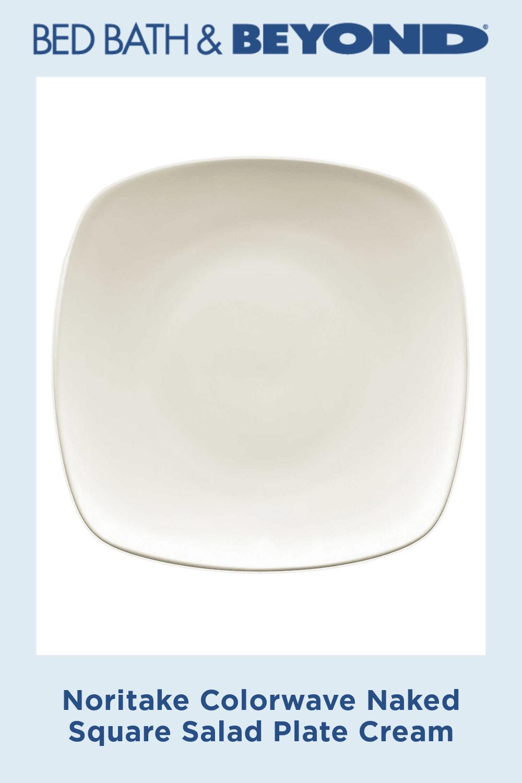 Noritake Colorwave Naked Square Salad Plate Cream