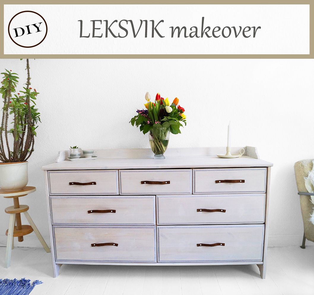 Ikea Hack My Old Leksvik Dresser Got A Makeover With Some Whitewash Style Paint