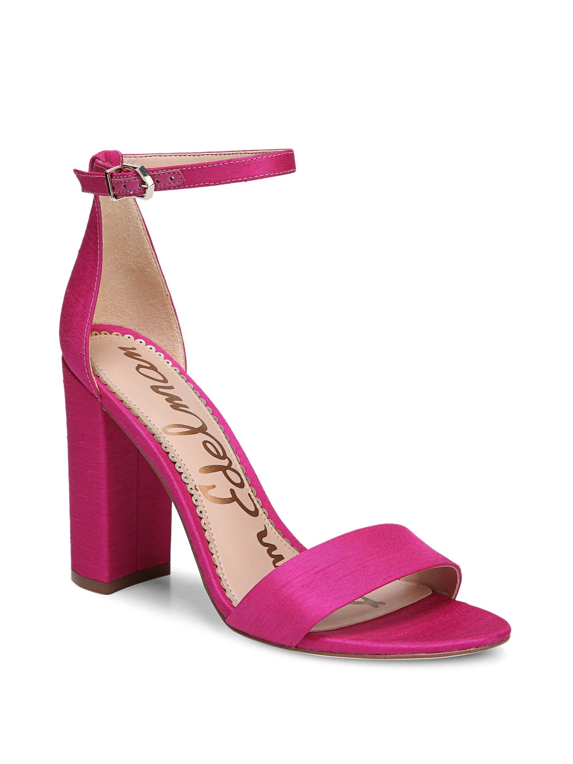 bb641a31c1fd SAM EDELMAN Yaro Ankle-Strap Silk Sandals.  samedelman  shoes ...