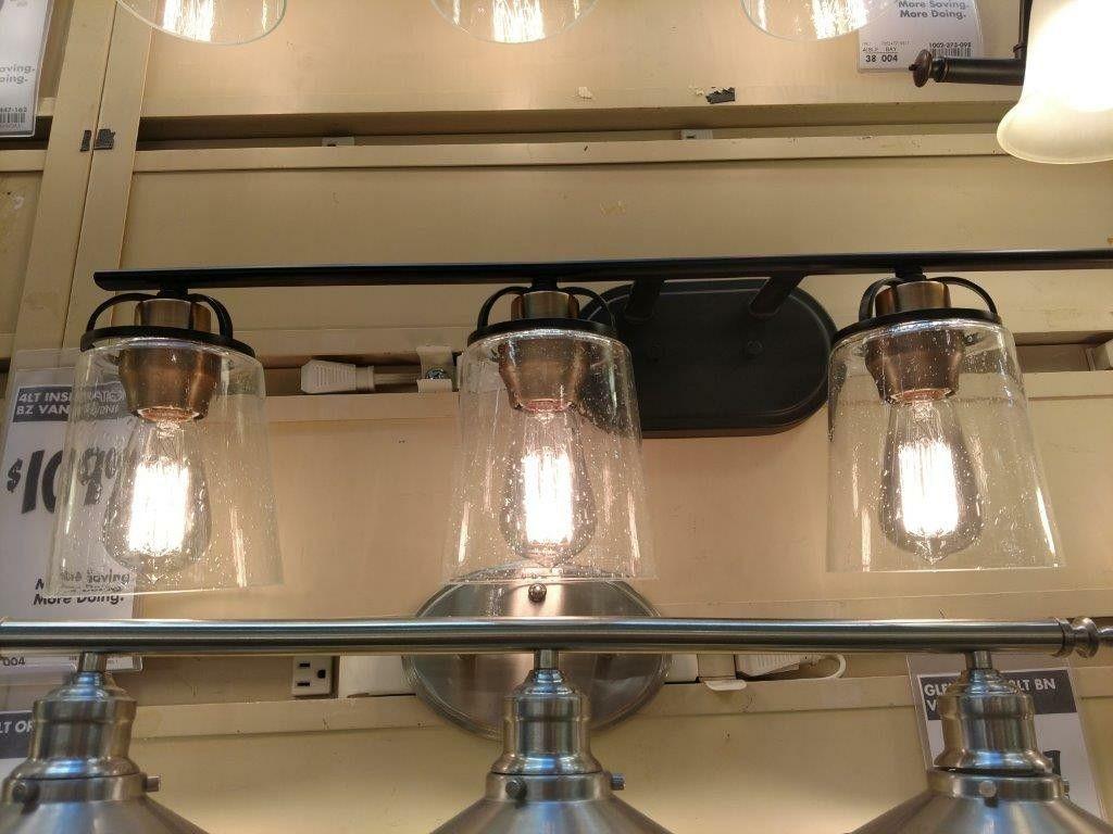 Lighting for bathrooms from Home Depot Bathroom lighting