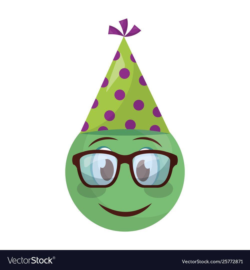 Smiley Emoji Party Hat Royalty Free Vector Image Smiley Emoji Emoji Party Party Hats