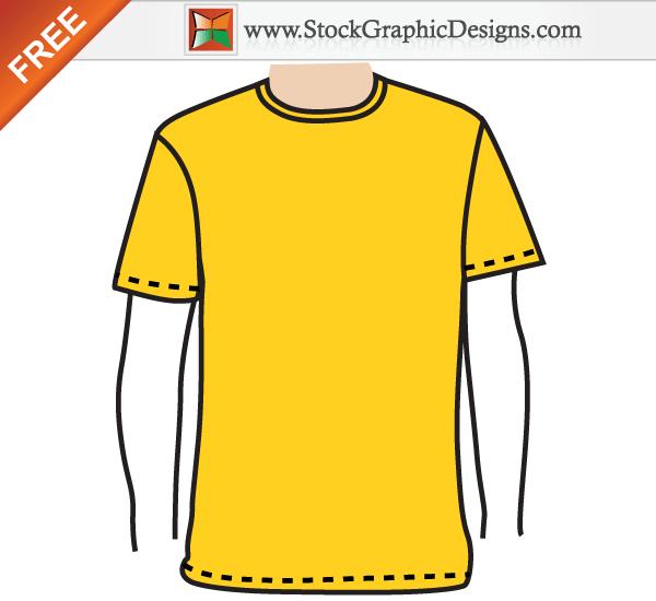Apparel Mens Blank T Shirt Template Free Vector