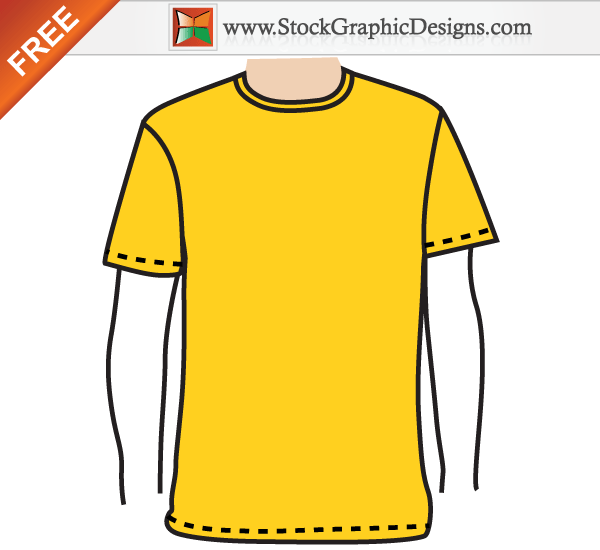 Apparel MenS Blank TShirt Template Free Vector  Template Free